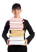 Teacher with Books — Foto Stock