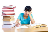 I am fed up with learning — Stock Photo
