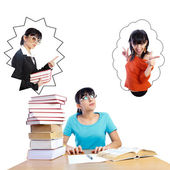 Study or Party - Let Me Decide — Stock Photo