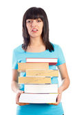Sad Student Having Too Much To Learn — Stock Photo