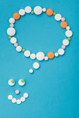 Smilyface made of pills — Stock Photo