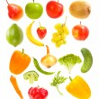 Falling fruits and vegetables — Stock Photo