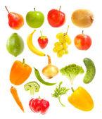 Fallande frukt och grönsaker — Stockfoto