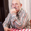 Old man using technology - Foto Stock