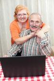 Piękna para starszy — Zdjęcie stockowe