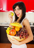 Let Us eat Lots of Fruits — Stock Photo