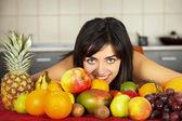 фрукты везде — Стоковое фото