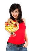 Hanno qualche insalata di frutta — Foto Stock