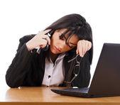 Tired Of Phone Calls — Stock Photo