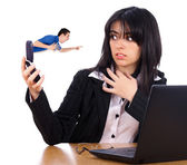 Angry Boss On Phone — Stock Photo