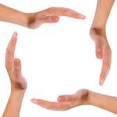 Ręce w koło — Zdjęcie stockowe
