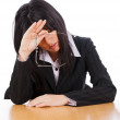Tired Business Woman — Stock Photo