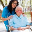 Doctor, Nurse With Elderly Patient — Stock Photo