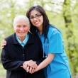 Stock Photo: Helping Elderly Peoplee