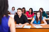 Teacher and the Class — Stock Photo