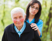 Sad Elderly Lady — Stock Photo
