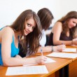 Beautiful Student During Test — Stock Photo