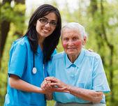 Helping Nurse — Stock Photo