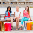 Women Sitting After Shopping — Stock Photo #27467339
