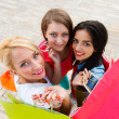Beautiful Women With Their Shopping Bags — Stock Photo