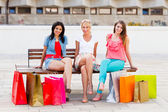 Women Sitting After Shopping — Foto de Stock