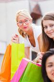 Beautiful Girl Shopping — Stock Photo