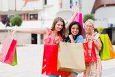 Women Enjoy Shopping — Stock Photo