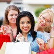 Gorgeous Girls Out Shopping — Stock Photo