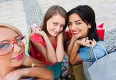 Women Enjoying Shopping Day — Stock Photo