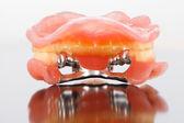 Inner relation of dental prostheises — Stock Photo