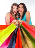 Excited Shopping Day — Stockfoto