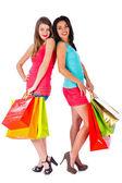 Girlfriends Shopping — Stock Photo