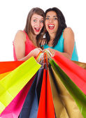 Excited Shopping Day — Stock Photo