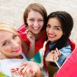 Excited Women about Shopping Together — Stock Photo