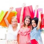 Girls Shopping — Stock Photo
