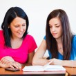 Girlfriends Studying Together — Stock Photo