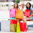 This Happens When Women Go Shopping Together — Stock Photo