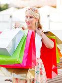 Shopaholic Lady — Stock Photo