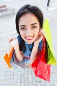 Chica ido de compras — Foto de Stock