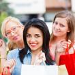 Girlfriends Gone Shopping — Stock Photo
