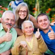 Stock Photo: Family Visit in Nursing Home