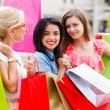 Beauties in Town Shopping — Stock Photo #30089591