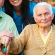 Elderly Lady with Alzheimer's Disease — Stock Photo