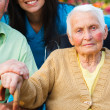 Elderly Lady with Alzheimer's Disease — Stock Photo #30089821