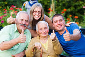 Family Visit in the Nursing Home — Stock Photo