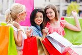 西施在城里购物 — 图库照片