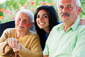 Nurse with Seniors — Stock Photo
