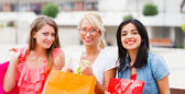 Happy After a Big Shopping — Stock Photo