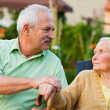Senior People in Nursing Home — Stock Photo
