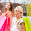 Beautiful Girlfriends Gone Shopping — Stock Photo